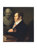 Portrait of the Poet Nikolay Gnedich (1784-183), 1839 Giclee Print by Mikhail Prokopyevich Vishnevitsky