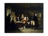 After the Unsealing of the Will, 1869 Giclee Print by Theodore Bernard de Heuvel
