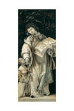 Panel of the Heller Altar Depicting St. Cyriacus Giclée-tryk af Matthias Grünewald