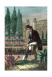 A Gardener Digging with a Spade, 1821 Giclee Print