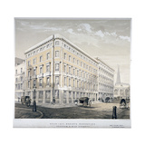 Messrs J&R Morley's Warehouses, Corner of Milk Street and Gresham Street, London, C1840 Giclee Print by  Martin & Hood