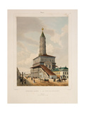 The Sukharev Tower in Moscow, 1840S Giclee Print by Philippe Benoist