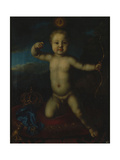 Portrait of Tsarevich Peter Petrovich of Russia (1715-171) as Cupid Giclee Print by Louis Caravaque