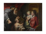 The Virgin and Child with Saints Zacharias, Elizabeth and John the Baptist, C. 1620 Giclee Print by Jacob Jordaens