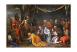 The Queens of Persia at the Feet of Alexander (The Tent of Dariu), 1661 Giclee Print by Charles Le Brun