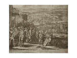 Siege of the Turkish Fortress Azov by Russian Forces in 1696, Um 1700 Giclee Print by Adriaan Schoonebeek