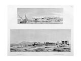 View of Luxor, and the Temple of Thebes at Luxor, Egypt, C1808 Giclee Print by Vivant Denon