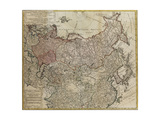 Map of Russia Giclee Print