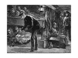 Taking the Pulse of a Sick Irish Emigrant on Board Ship, (1840) C1890 Giclee Print