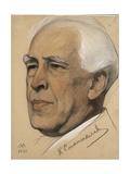 Portrait of the Regisseur Konstantin S. Stanislavsky (1863-193), 1921 Giclee Print by Nikolai Andreevich Andreev
