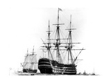 HMS Victory at Portsmouth, 19th Century Giclee Print