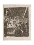 Observing the Heavens in the Age of Galileo, 1681 Giclee Print by Pierre Petit