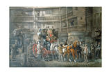 Inn Yard with Mail Coach Preparing to Leave, C1840 Giclee Print