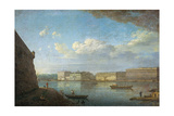 Palace Embankment as Seen from the Peter and Paul Fortress, 1794 Giclee Print by Fyodor Yakovlevich Alexeyev