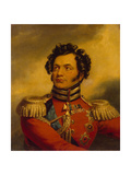 Portrait of the General Fyodor Petrovich Uvarov (1773-182), before 1825 Giclee Print by George Dawe