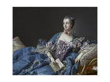 Portrait of the Marquise De Pompadour (1721-176), Ca 1758 Giclee Print by François Boucher
