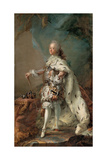 Portrait of Frederik V in Anointment Robe, C. 1750 Giclee Print by Carl Gustaf Pilo