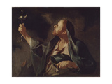 A Man with a Lamp and a Whip (The Prophet Sophonia) Giclee Print by Giuseppe Antonio Petrini