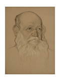 Portrait of the Revolutionary Count Pyotr A. Kropotkin (1842-192), 1920-1921 Giclee Print by Nikolai Andreevich Andreev