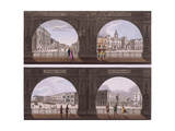 Four Views of London Sites Seen Through an Arch, C1820 Giclee Print