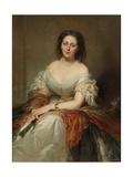 Portrait of Maria Countess Walewska (1786-181), 1859 Giclee Print by Louis Edouard Dubufe