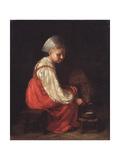 A Peasant Girl with a Calf, 1829 Giclee Print by Alexei Gavrilovich Venetsianov