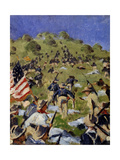 Charge of the Rough Riders at San Juan Hill in 1898, C. 1900 Giclee Print by Vasili Vasilyevich Vereshchagin