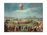 Ascent of a Balloon in the Presence of the Court of Charles IV, Ca. 1783 Giclee Print by Antonio Carnicero
