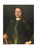 Portrait of Emperor Peter I the Great (1672-172), 1758 Giclee Print by Alexei Petrovich Antropov