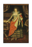 Portrait of Lady Frances Stewart, Duchess of Richmond and Lennox, Countess of Hertford, Née Howard Giclee Print by Marcus Gheeraerts The Younger