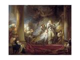 The High Priest Coresus Sacrificing Himself to Save Callirhoe Reproduction procédé giclée par Jean-Honoré Fragonard