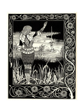Arthur Learns of the Sword Excalibur Giclee Print by Aubrey Beardsley