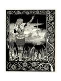 Arthur Learns of the Sword Excalibur Lámina giclée por Aubrey Beardsley
