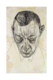 Portrait of the Composer Sergei Rakhmaninov (1873-194), 1930 Giclée-Druck von Boris Dmitryevich Grigoriev