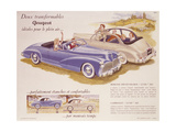 Poster Advertising the Peugeot 203, 1952 Giclee Print
