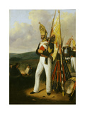 Grenadier of the Pavlovsky Lifeguards Regiment, 1840S Giclee Print by Gottfried Willewalde