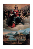 Madonna and Child in Glory with the Saints Anthony of Padua and Francis, 1530 Giclee Print by Benvenuto Tisi Da Garofalo