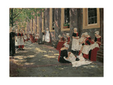Free Period in the Amsterdam Orphanage Giclee Print by Max Liebermann