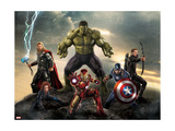 Thor, Hulk, Captain America, Hawkeye, and Iron Man from The Avengers: Age of Ultron Affiche