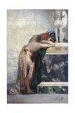 Two Figures by a Statue of Sphinx, 1870S Impression giclée par Henryk Siemiradzki
