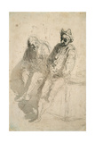 Two Saltimbanques (Deux Saltimbanque) Giclee Print by Honoré Daumier