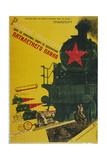 The Development of Transportation, the Five-Year Plan, 1929 Giclee Print by Gustav Klutsis