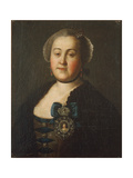 Portrait of Countess Agrippina Leontievna Apraxina, End of 1750S Giclee Print by Alexei Petrovich Antropov