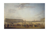 Changing of the Guard at the Palace Square in Saint Petersburg, C. 1800 Giclee Print by Johann Georg Von Mayr