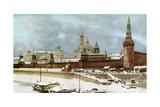 The Kremlin, Moscow, Russia, C1930s Giclée-tryk
