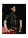 Portrait of Philip II (1527-159), King of Spain and Portugal, C. 1550 Giclee Print by Antonis Mor