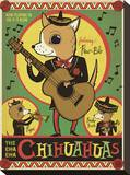 Cha Cha Chihuahua Stretched Canvas Print
