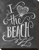 I Love The Beach Stretched Canvas Print