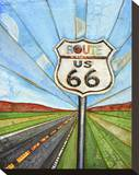 Road Trippin Stretched Canvas Print by Danny Phillips