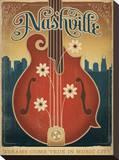 Flower Mandolin Stretched Canvas Print
